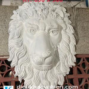 Phù điêu đầu sư tử giả đá, đầu sư tử phun nước giả đá