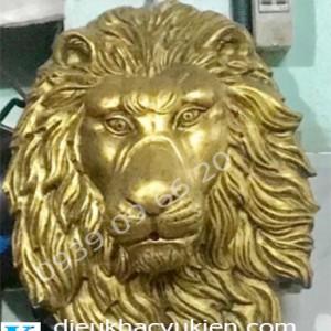 Đầu sư tử phun nước giả đồng, phù điêu sư tử giả đồng