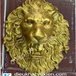 Phù điêu đầu sư tử phun nước composite, đầu sư tử composite
