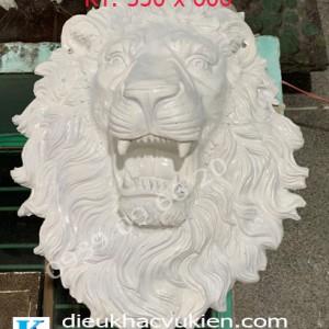 Đầu sư tử há miệng, phù điêu đầu sư tử phun nước há miệng